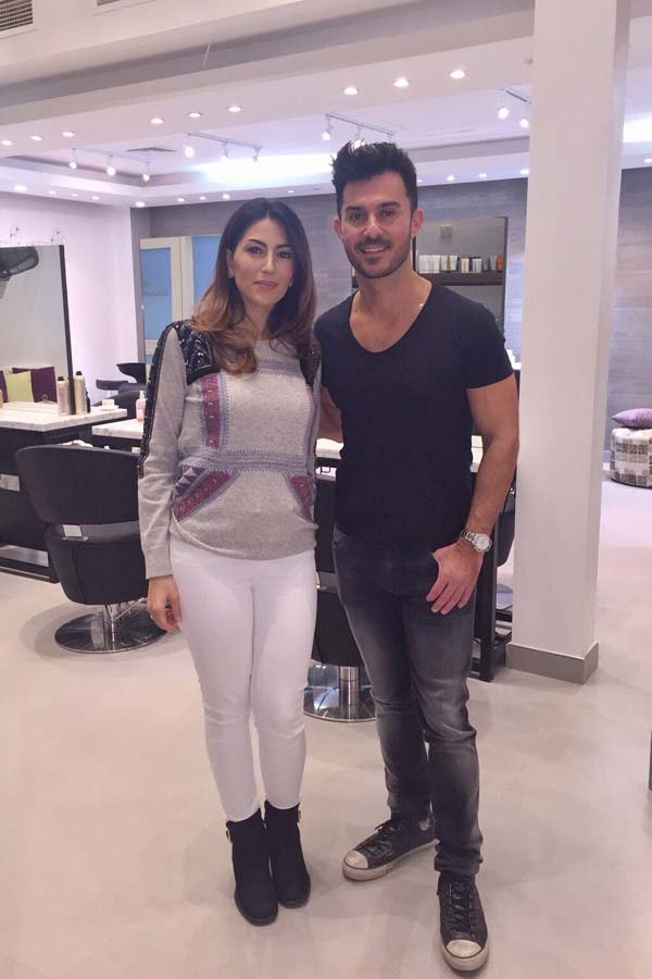 LA based Celebrity Hair Colorist George Papanikolas and founder of Purple Patchouli, Mariam Abdulrahim