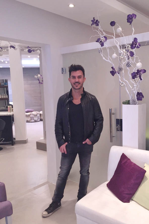 LA based Celebrity Hair Colorist George Papanikolas at Purple Patchouli